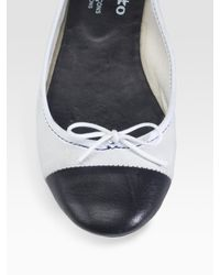 Comme des Garçons - Black Repetto For Comme Leather and Suede Ballet Flats - Lyst