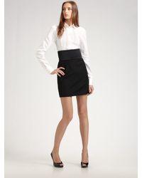 Dolce & Gabbana | White Cotton Tuxedo Shirt | Lyst