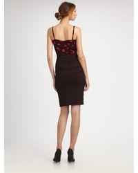 Dolce & Gabbana - Black Polka Dot Ruched Cami Dress - Lyst