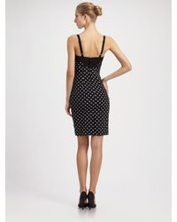 Dolce & Gabbana - Black Polka Dot Silk Dress - Lyst