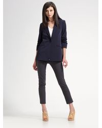 Elizabeth and James | Blue Ruched Boyfriend Blazer | Lyst