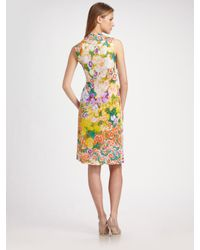 Etro - White Floral Jersey Sleeveless Dress - Lyst