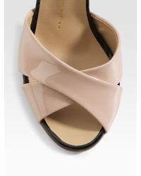 Giuseppe Zanotti | Black Crisscross Patent Leather Sandals | Lyst