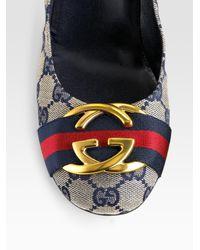 Gucci | Black Gg Logo Pumps | Lyst
