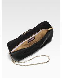 Jimmy Choo - Black Teri Patent Leather Clutch - Lyst