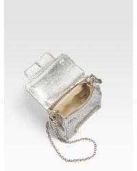 Jimmy Choo - Metallic Glitter Fabric Mini Crossbody Bag - Lyst