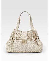 Jimmy Choo | White Riki Lasercut Leopard Shoulder Bag | Lyst