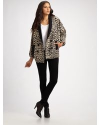 Loeffler Randall | Multicolor Leopard-print Double-breasted Coat | Lyst