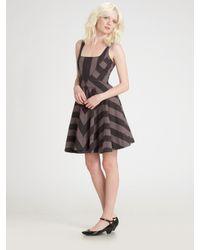 Marc By Marc Jacobs | Gray Jailbird Stripe Dress | Lyst