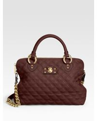 Marc Jacobs | Brown Quilting The Standard Bag | Lyst