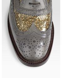Marc Jacobs - Gray Glitter Oxford - Lyst