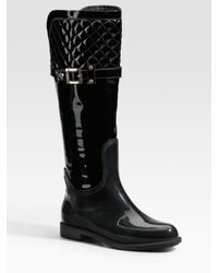 Marina Rinaldi | Black Quilted Rain Boot | Lyst