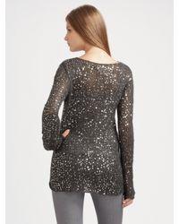 MICHAEL Michael Kors - Gray Lightweight Sequined Sweater - Lyst