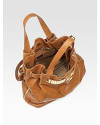 Michael Kors - Brown Hadley Large Leather Tote - Lyst
