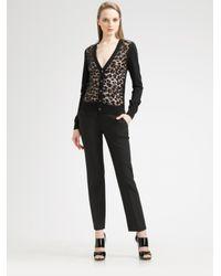 Michael Kors | Black Sequined Leopard Cardigan | Lyst