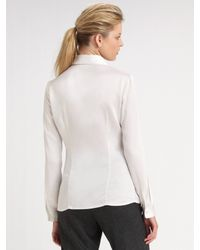 Michael Kors | White Charmeuse Shirt | Lyst