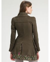 Nanette Lepore - Green Dr. No Army Jacket - Lyst