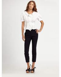 Nina Ricci | White Cotton Peplum Blouse | Lyst