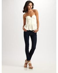 Parker | Natural Bustier Top | Lyst