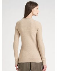 Ports 1961 - Natural Honeycomb Capelet Sweater - Lyst