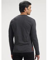 Prada - Gray Long-sleeve Tee for Men - Lyst