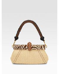 9a9c5673a5d6 Prada Paglia Twist Straw Shoulder Bag in Natural - Lyst