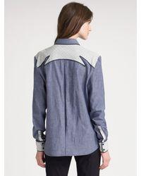 Proenza Schouler - Blue Western Shirt - Lyst