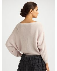 Rebecca Taylor | White Dolman-sleeve Sweater | Lyst
