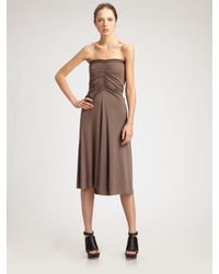 Rick Owens Lilies | Brown Convertible Strapless Dress & Skirt | Lyst