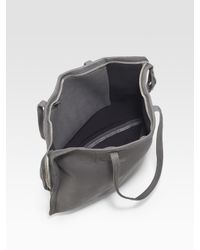 Rick Owens - Gray Double Strap Leather Tote - Lyst