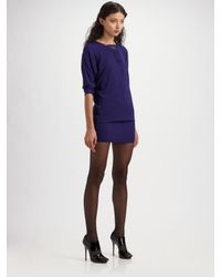 Robert Rodriguez | Purple Fringe Insert Dress | Lyst