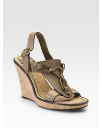 See By Chloé | Brown Chain-detailed Cork Wedges | Lyst