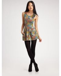 Seneca Rising | Multicolor Printed Mini Dress | Lyst