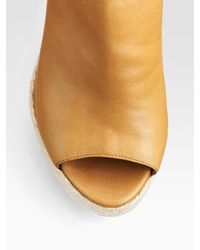 Sergio Rossi | Brown Open-toe Espadrille Ankle Boots | Lyst
