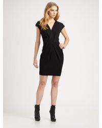 Shoshanna | Black V-neck Sheath Dress | Lyst