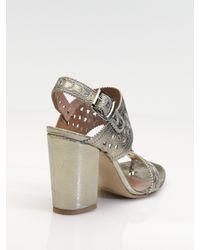 Sigerson Morrison - Metallic Leather Sandals - Lyst