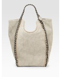 Stella McCartney | Natural Canvas Falabella Big Chain Bag | Lyst