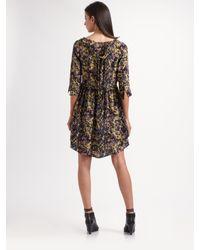 SUNO - Multicolor Silk Tiered Tie-back Tunic Dress - Lyst