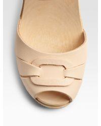 Swedish Hasbeens | Natural Peep-toe Sandals | Lyst