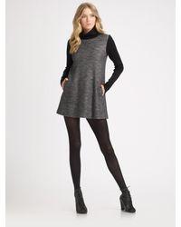 Theory | Gray Jacquard Turtleneck Dress | Lyst