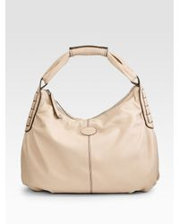 Tod's | Gray Ivy Sacca Grande Hobo | Lyst