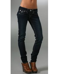 True Religion | Blue Julie Stretch Stovepipe Jeans | Lyst