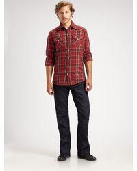 True Religion | Blue Billy Super T Bootcut Jeans for Men | Lyst