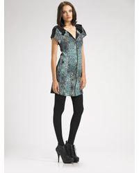 Vena Cava | Green Silk Zipper Dress | Lyst