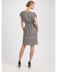 Weekend by Maxmara - Blue Abetone Striped Mock-wrap Dress - Lyst