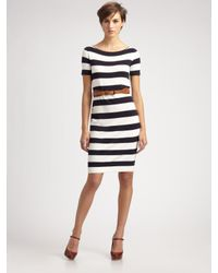 Weekend by Maxmara | Blue Stripe Knit Dress | Lyst