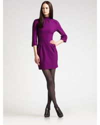 Z Spoke by Zac Posen | Purple Mock Turtleneck Jersey Dress | Lyst