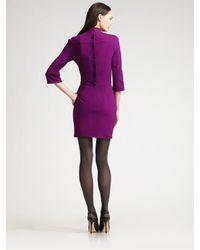 Z Spoke by Zac Posen - Purple Mock Turtleneck Jersey Dress - Lyst