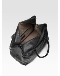 Bottega Veneta - Black Large Brick Cervo Top Handle Bag - Lyst