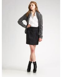 Burberry Brit | Gray Wool Flannel Skirt | Lyst